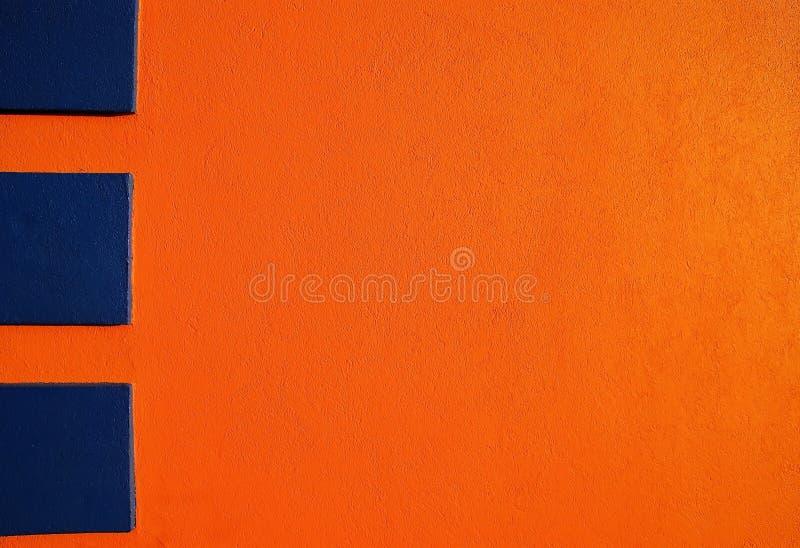 Orange & blue stucco 2 stock image