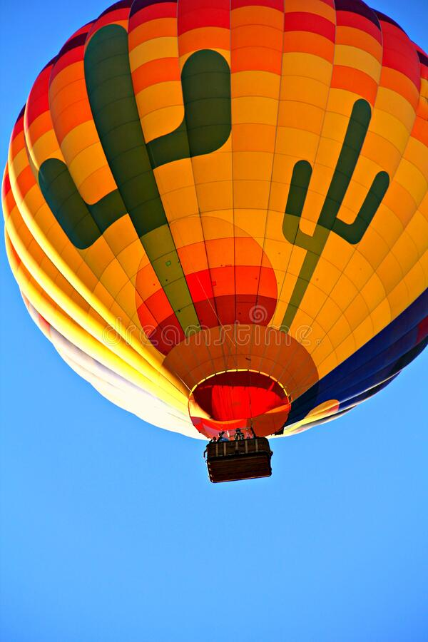 Orange Blue Yellow And Green Hot Air Balloon Free Public Domain Cc0 Image