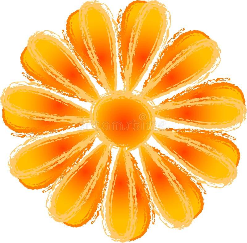Orange Blume stock abbildung