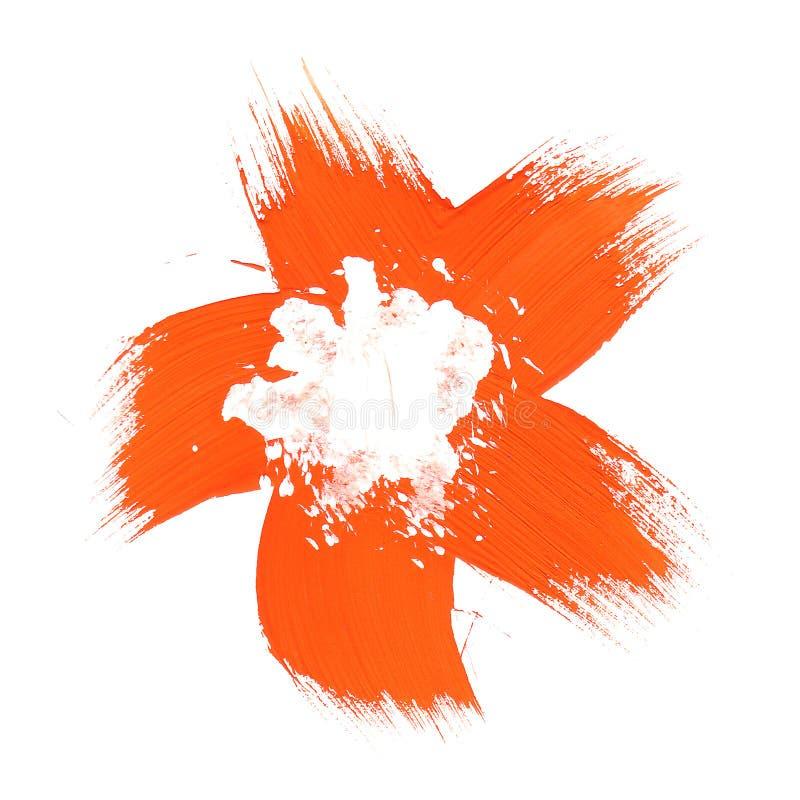 Orange Blumenpinsellack vektor abbildung