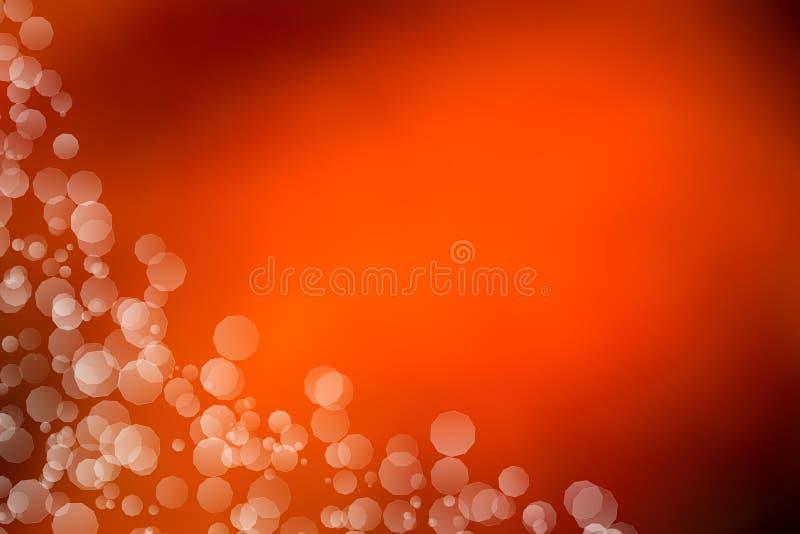 Orange bokeh Auszugs-Leuchtehintergrund stock abbildung