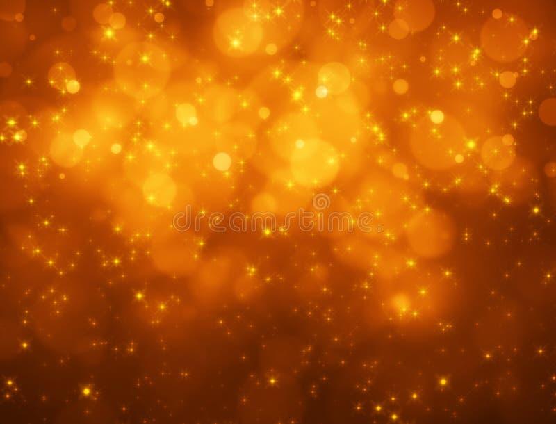 Orange bokeh Hintergrund stock abbildung