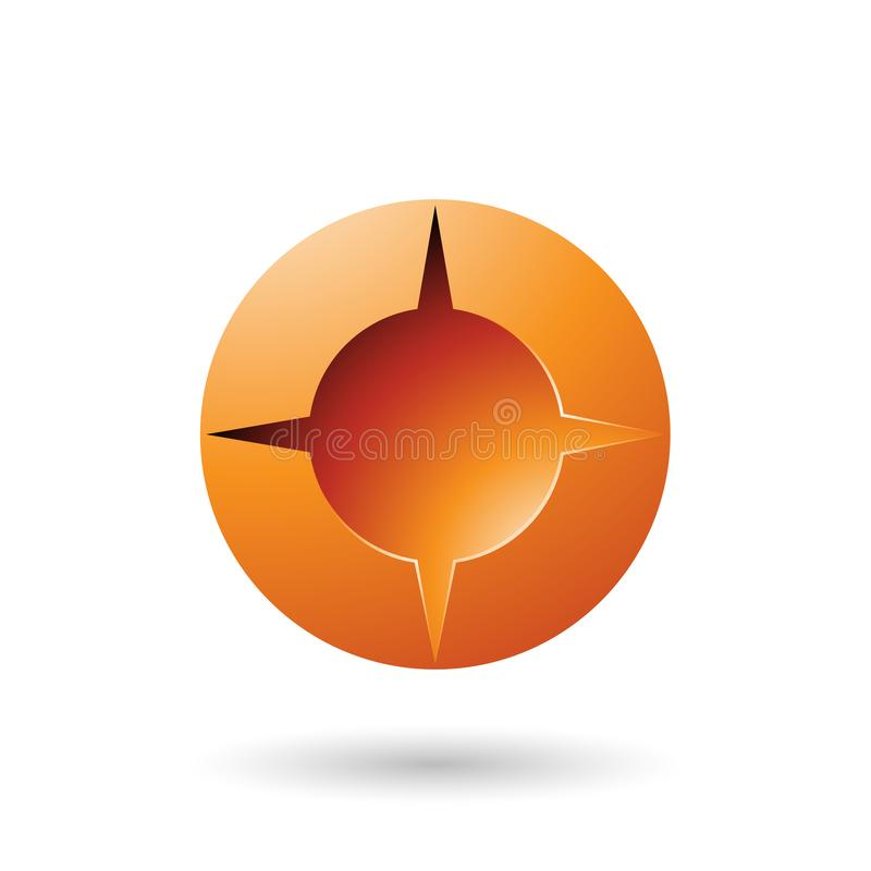 Orange and Bold Shaded Round Icon Vector Illustration vector illustration