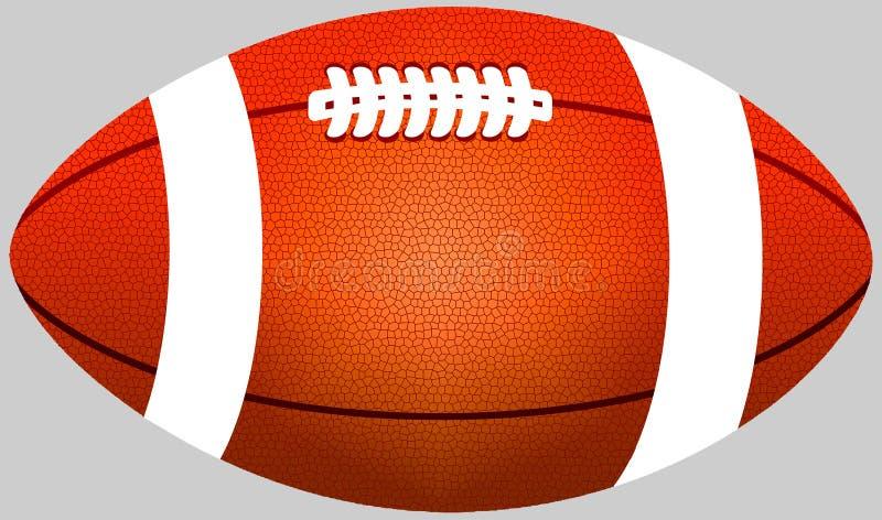 Orange boll för amerikansk fotboll för färg royaltyfri bild