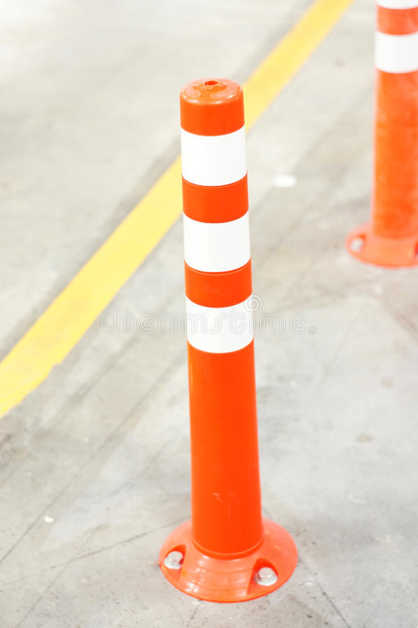 Download Orange Bollard Inside Carpark Stock Image - Image: 30773583
