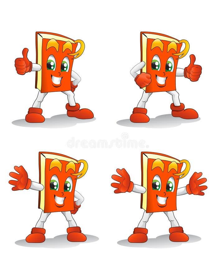 Download Orange book pose stock illustration. Illustration of white - 32473868