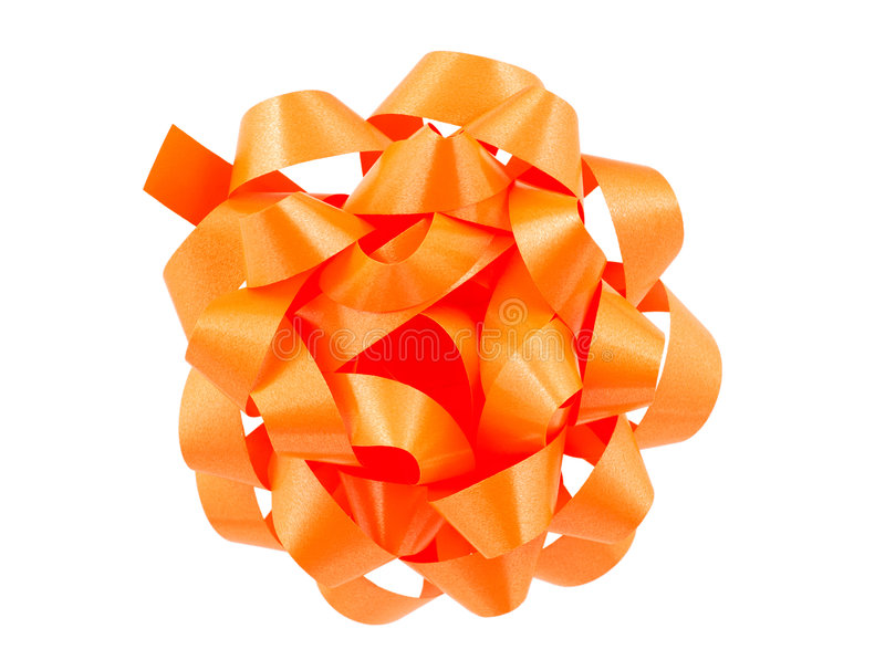 Download Orange Bow stock image. Image of event, isolated, wrapping - 447793