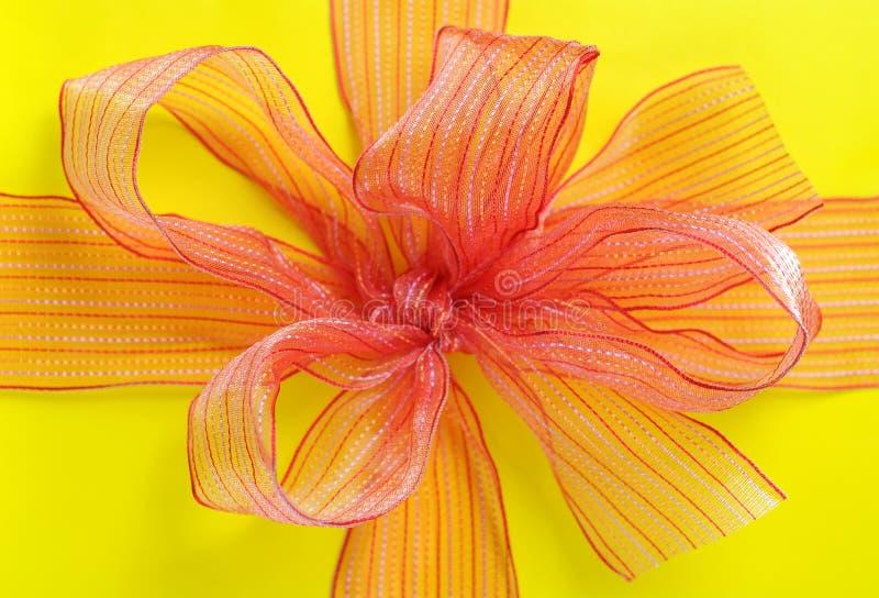 Download Orange bow stock photo. Image of ribbon, celebration - 34998258