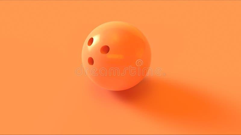 Orange bowlingklot vektor illustrationer