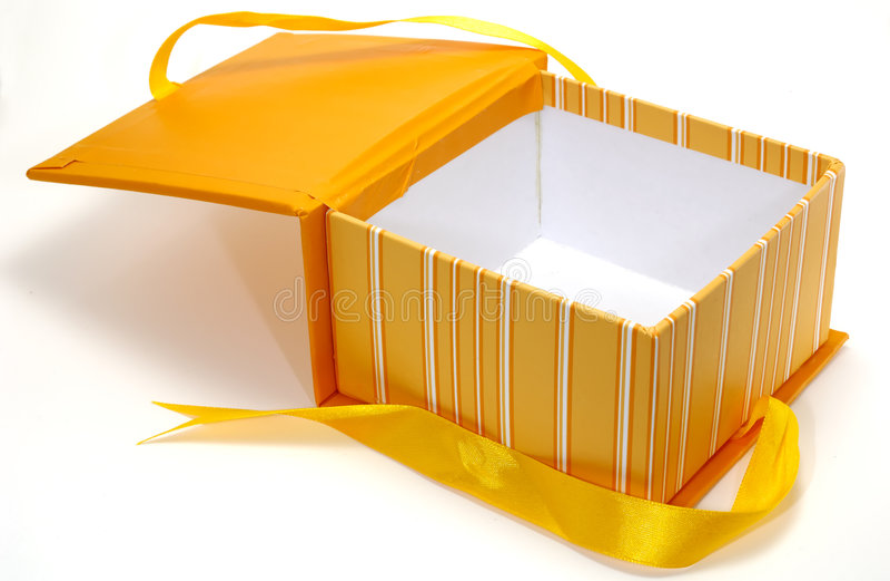 Download Orange Box stock photo. Image of object, ribbon, everyday - 1657360