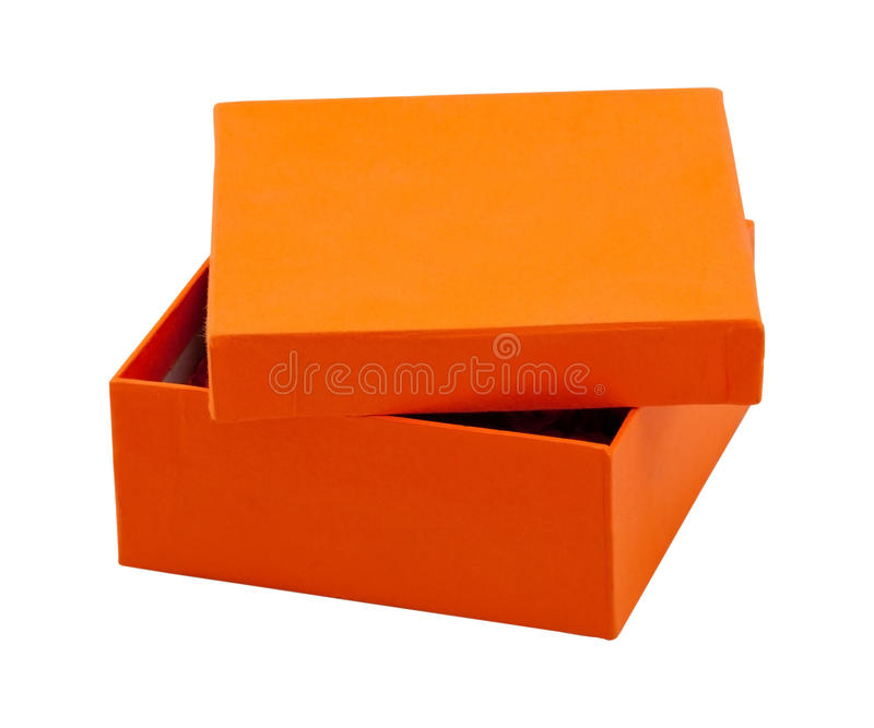 Download Orange box stock image. Image of packing, classic, empty - 18351373