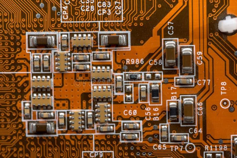 Orange bräde för elektronisk strömkrets royaltyfria foton