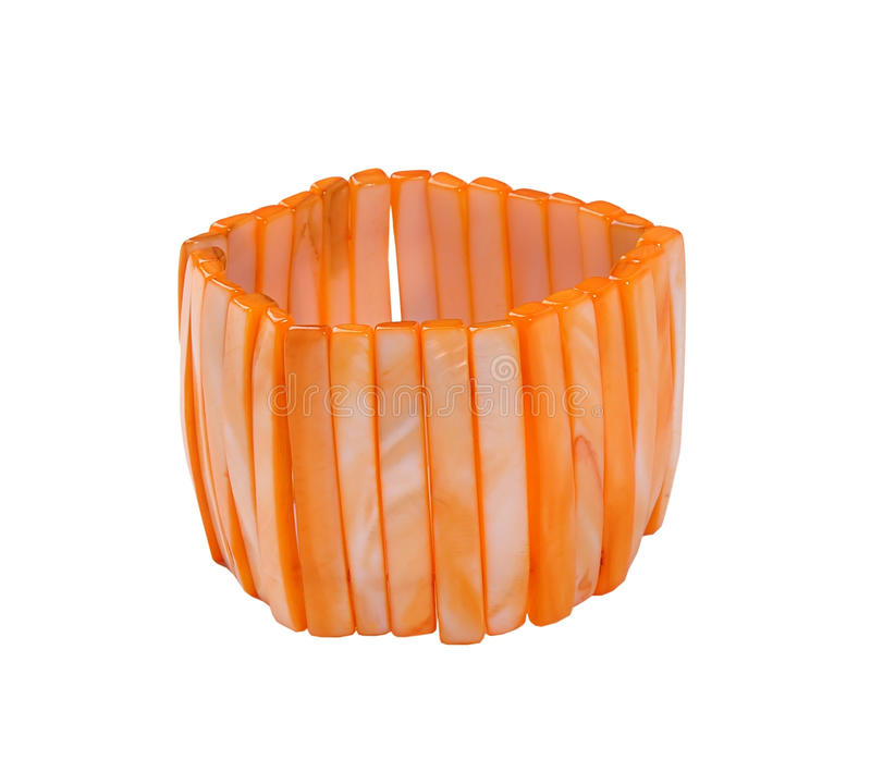 orange bracelet royalty free stock photography