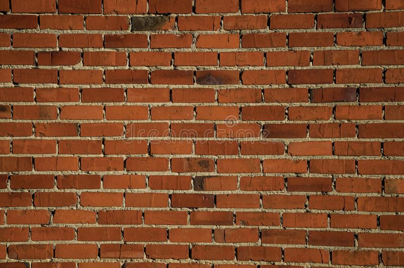 Orange brick pattern on house wall. In Tielt. Charming and quiet village in the countryside, near Ghent and surrounded by agricultural fields. Western Belgium royalty free stock photography