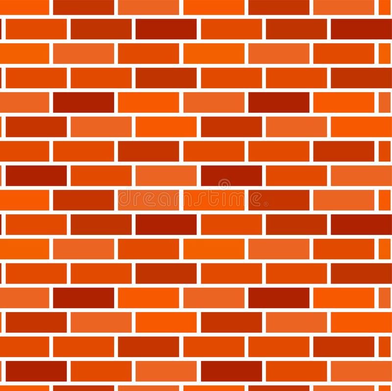 Orange brick wall background. Seamless vector pattern. Brown brickwork & masonry texture. Stretcher running bond royalty free illustration