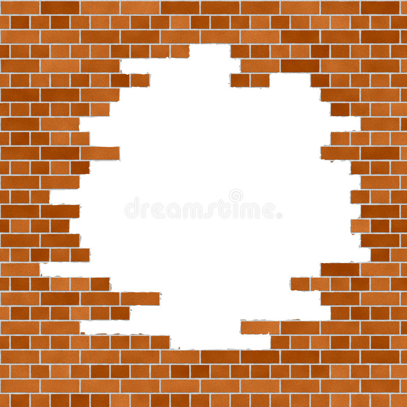Orange Brick Wall Frame stock illustration
