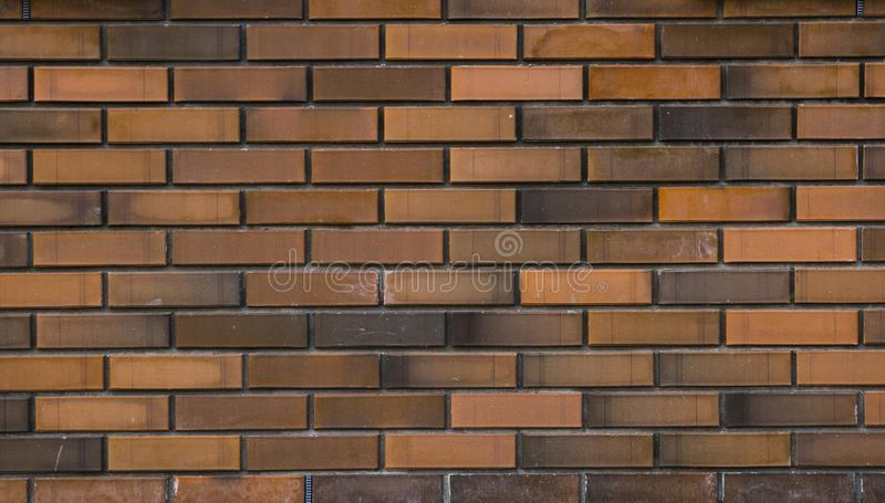 Orange brick wall texture for your background. royalty free stock images