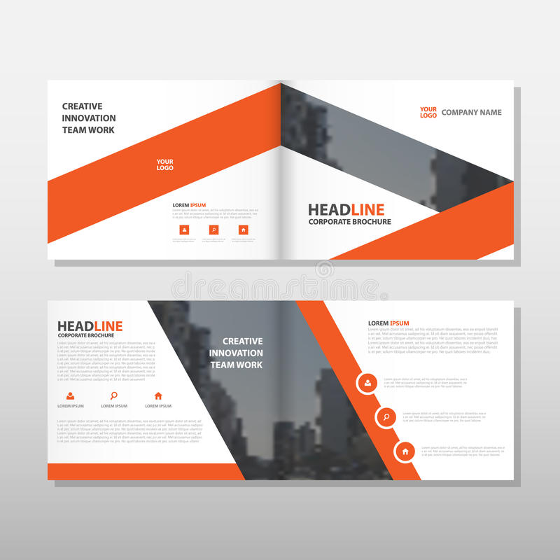 Orange Brochure Leaflet Flyer annual report template design, book cover layout design, abstract business presentation template vector illustration