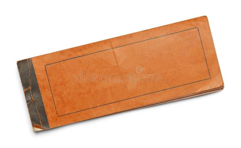 Orange Broschüre lizenzfreie stockfotos