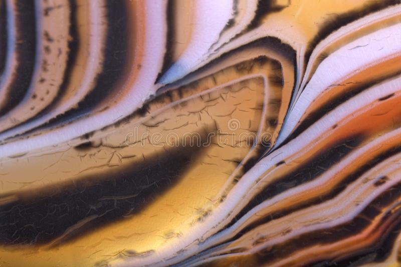 Orange and brown contrast agate structure stock photo