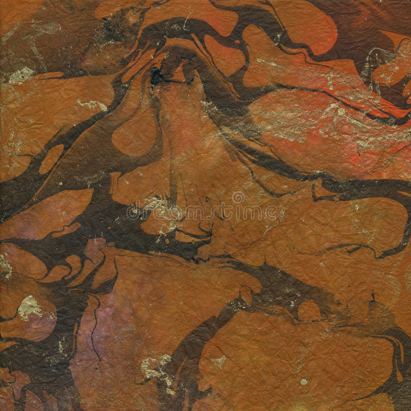 Download Orange Brown And Gold Marbled Paper Texture Stock Image - Image: 18617251