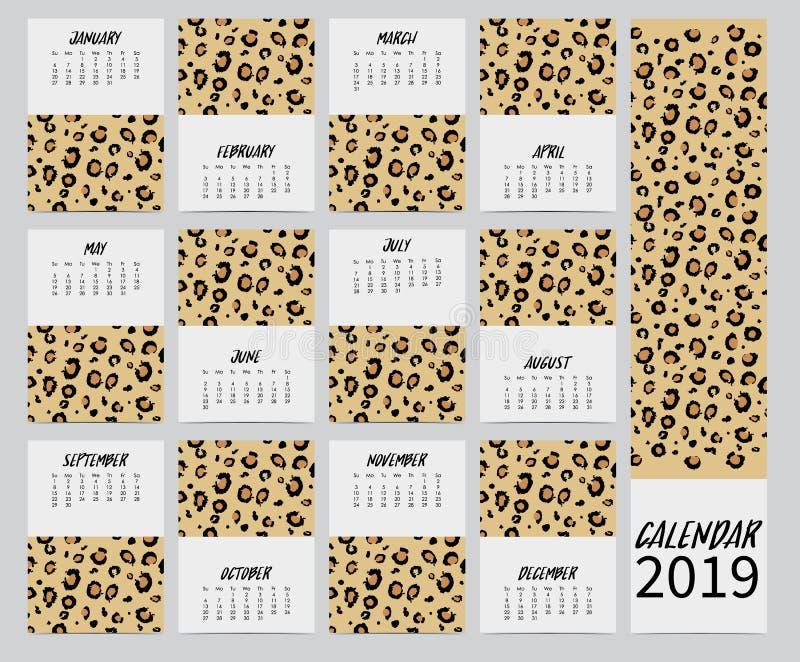 Orange brown leopard skin pattern royalty free illustration