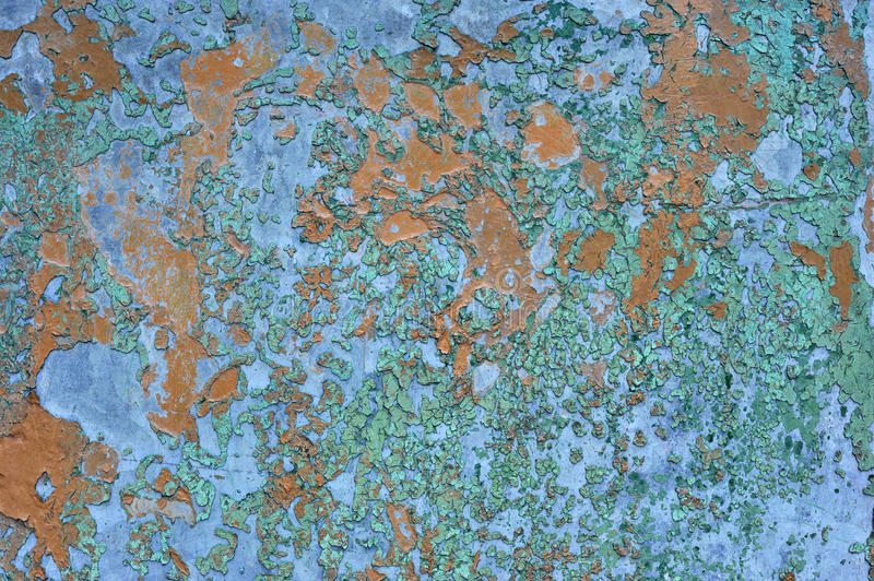 Orange brown old rusted corroded metal or steel sheet. Horizontal wall background as abstract dirty textured metallic vintage industrial closeup for retro stock photography
