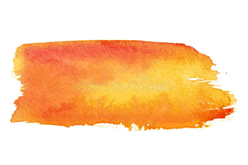 Orange brush strokes stock images