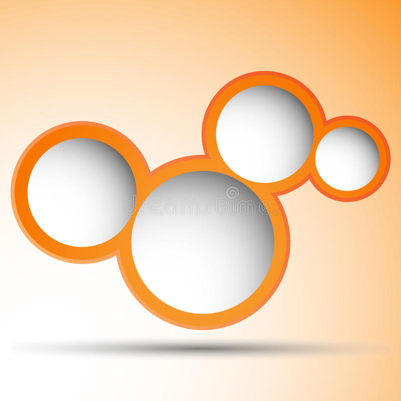 Orange bubbles with space for text