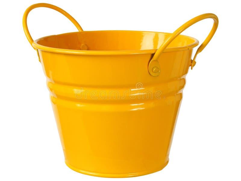 Orange bucket on white stock image