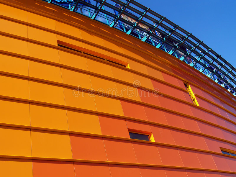 Orange building [1] royalty free stock image