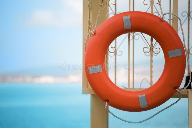 Orange buoy stock image