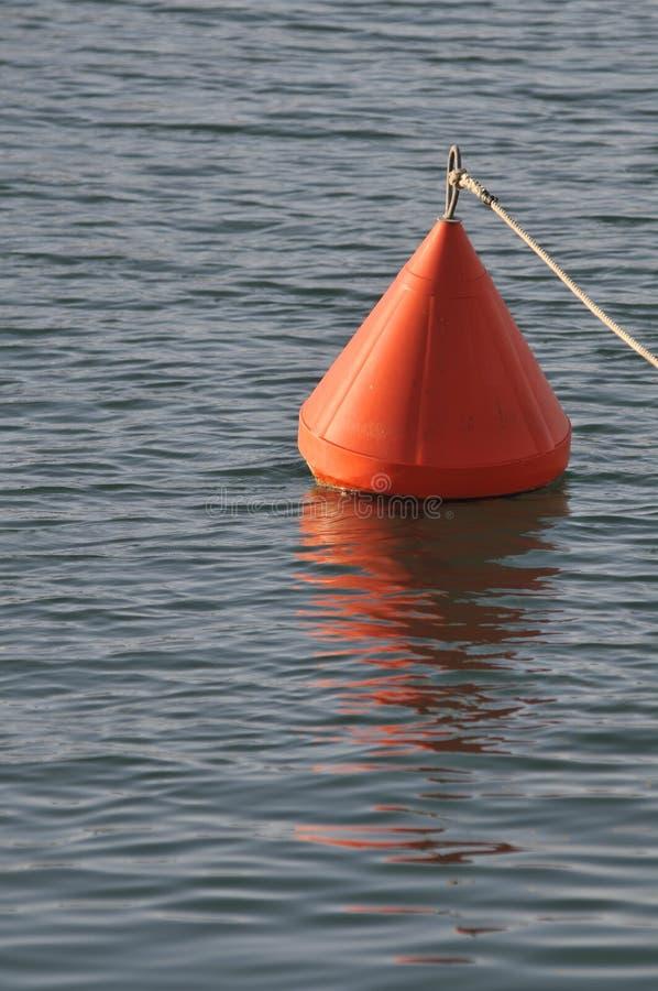 Orange buoy royalty free stock images