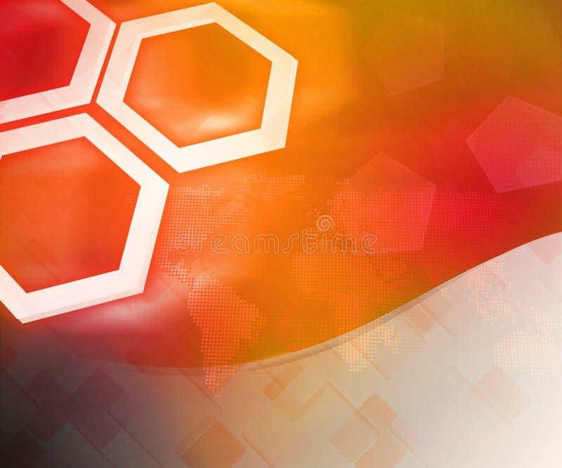 Orange Business Background Hexagon stock photos