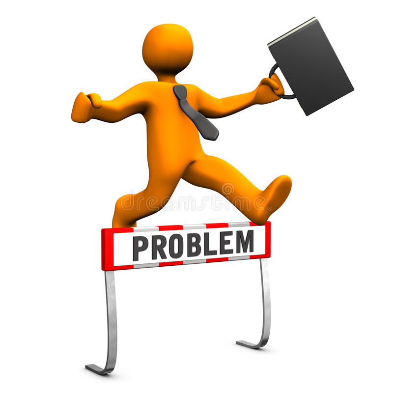 Download Businessman Steeplechase Problem Stock Illustration - Illustration of crisis, hurdle: 30304008