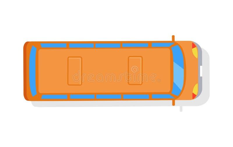 Orange buss som isoleras på den vita bakgrundsöverkantvektorn stock illustrationer