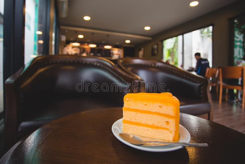 Orange cake arkivbilder
