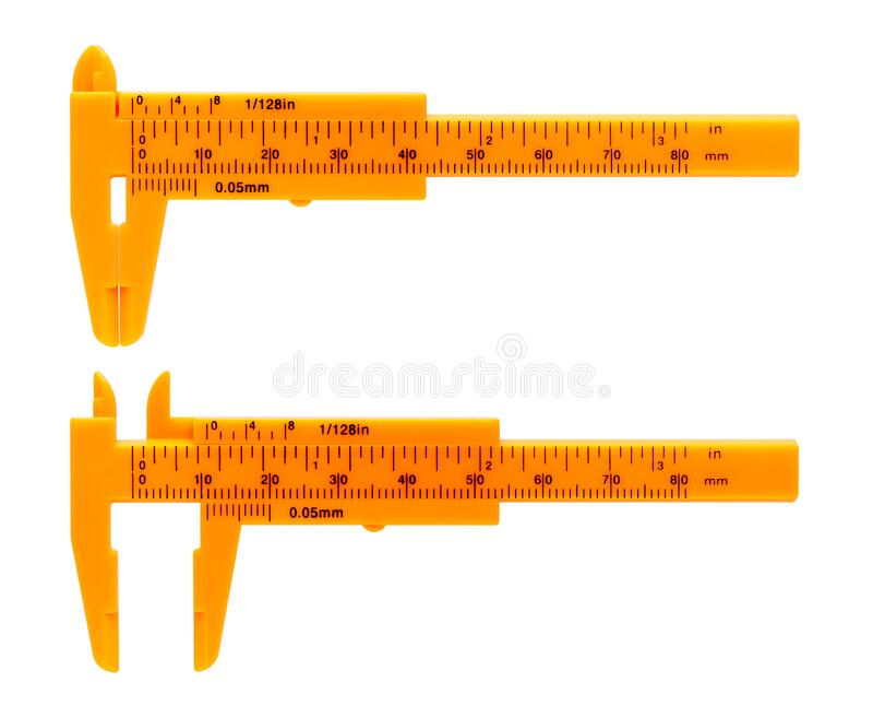 Orange calipers royalty free stock image