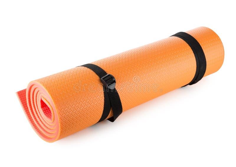 Orange camping mat stock photos