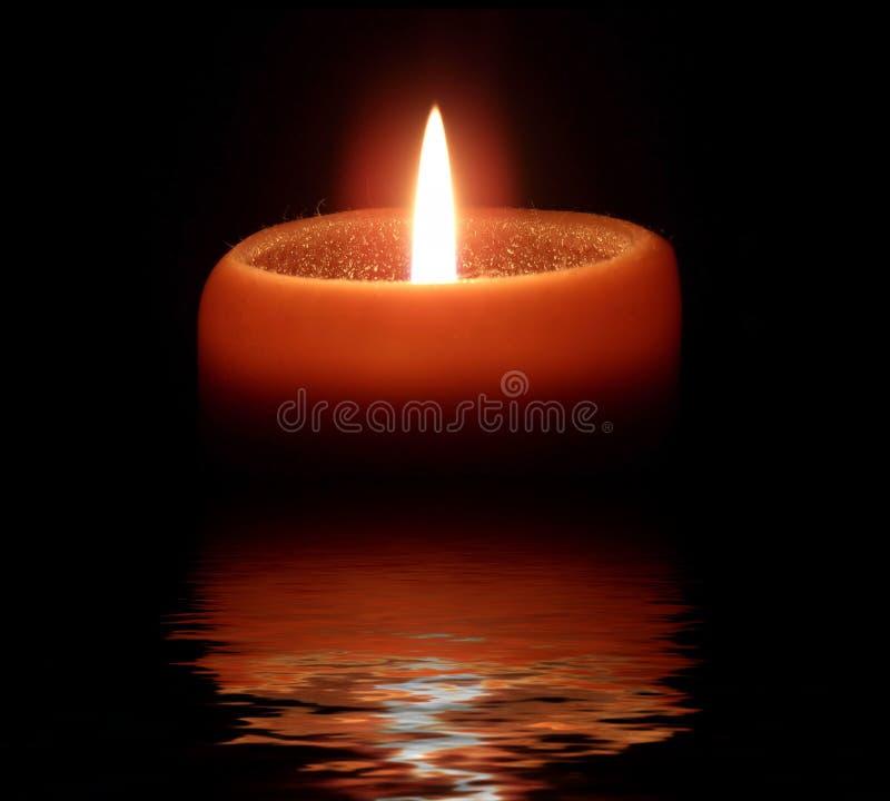 Orange Candle stock photography
