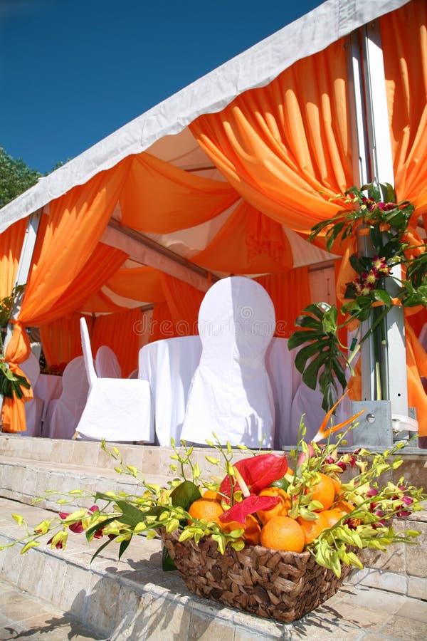 Orange canopy royalty free stock image