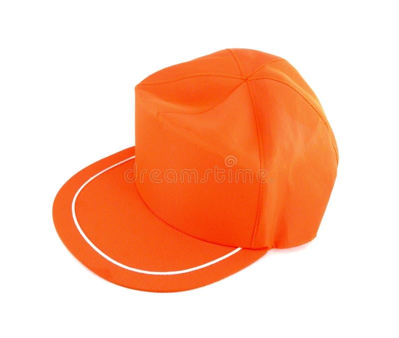 Orange Cap isolated stock photos