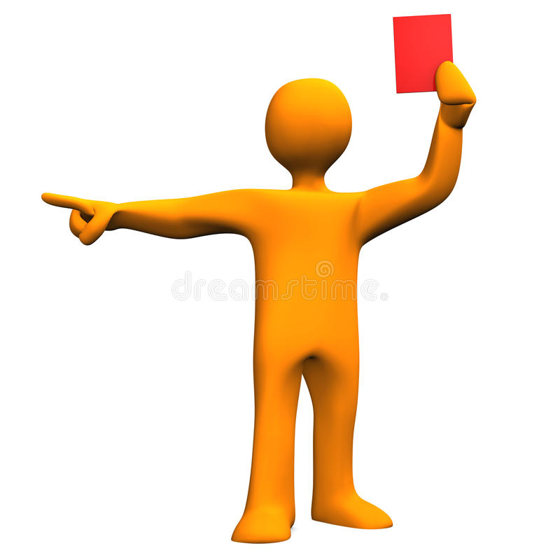 Download Referee Red Card stock illustration. Illustration of sports - 29779216