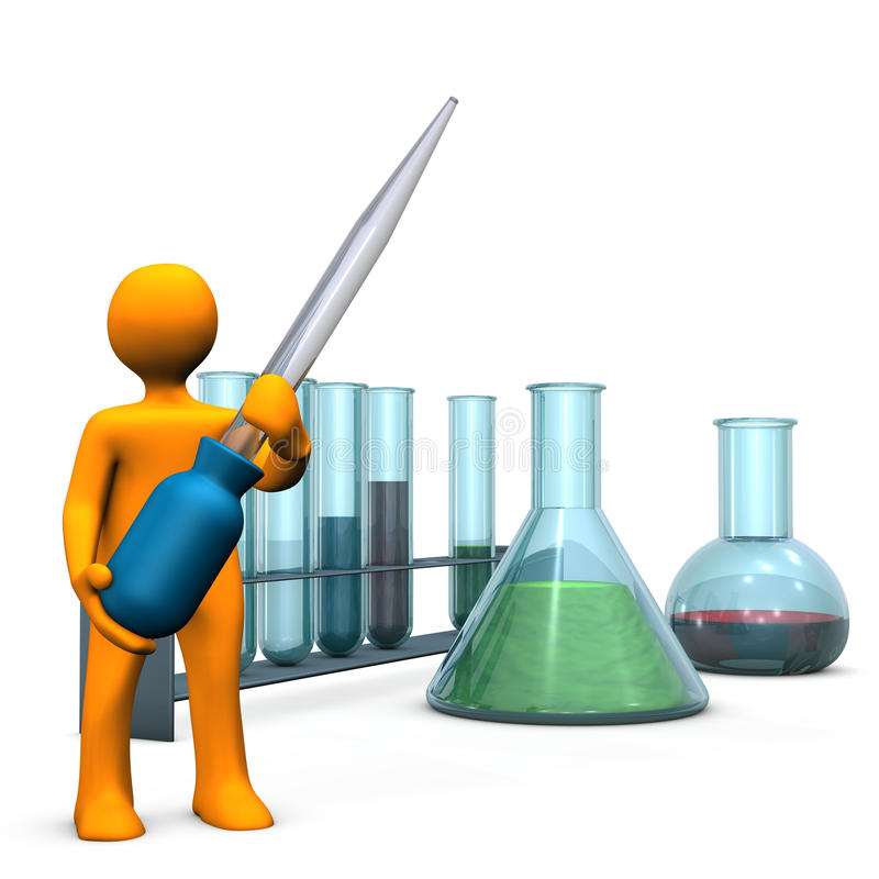 Chemical Experiment vector illustration