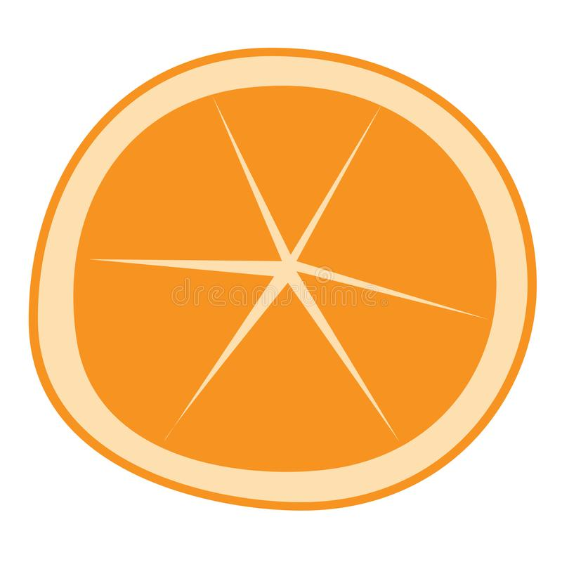 Orange cartoon isolated vector stock photo