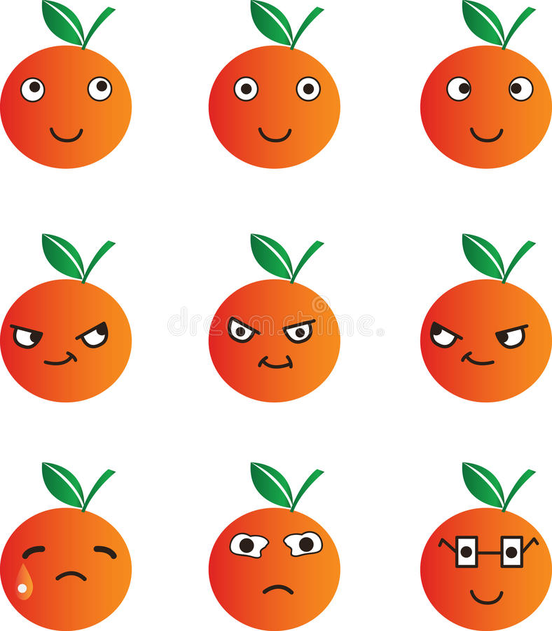 Orange cartoon stock photo
