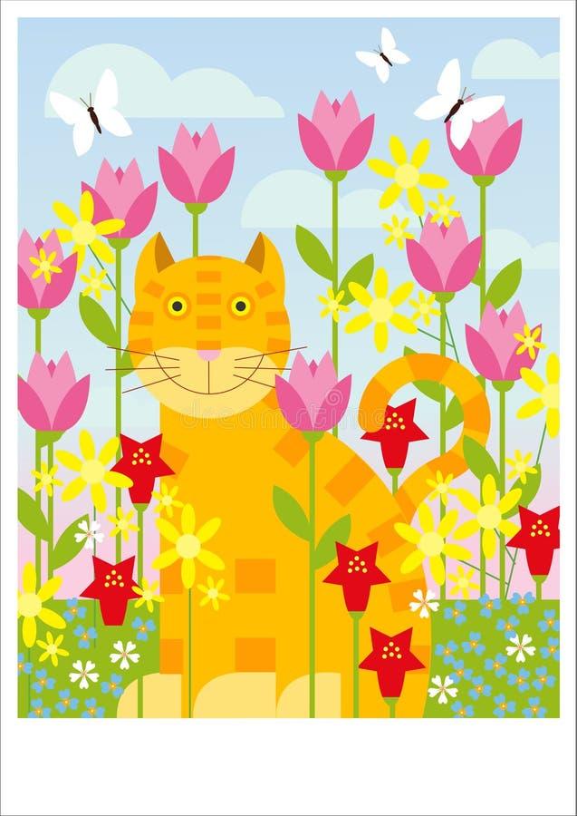 Orange cat royalty free illustration