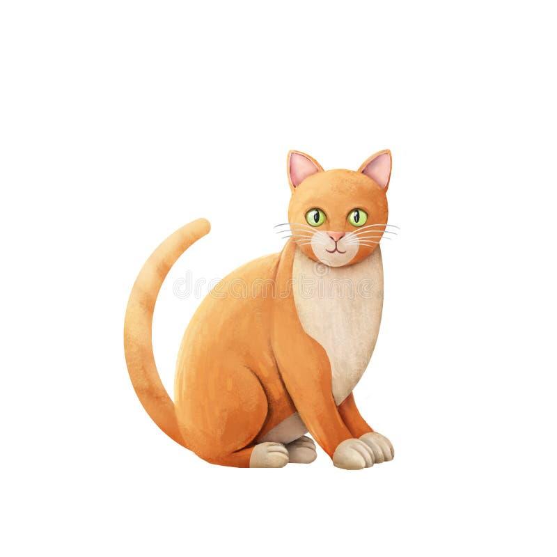 Free Orange Cat Illustration Stock Photos - 69831173