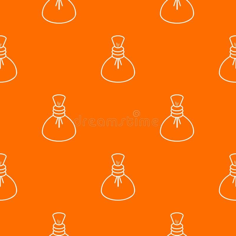 Orange chaude de vecteur de modèle de compresse de station thermale illustration stock