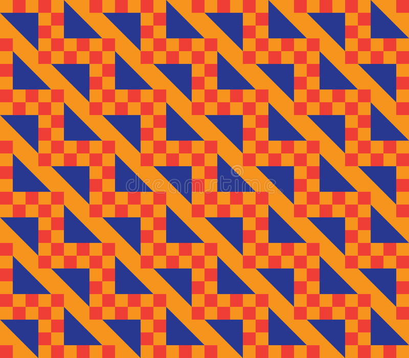 Download Orange checkered pattern stock vector. Image of backdrop - 26459850